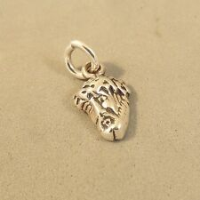 .925 Sterling Silver Tiny JESUS FACE CHARM NEW Pendant Head Small 925 FA53