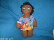 "Vintage Ethiopian Ethiopia Folk Art Playing Doll 13"" Partly Hand Made"