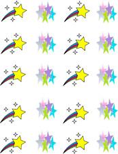 Pastel and Shooting  Stars  Waterslide Nail Decals/Nail art