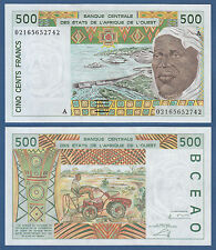 WEST AFRICAN STATES / IVORY COAST 500 Francs  UNC P.110A m