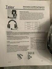 New listing Telex Ph-200Lg - Double-Sided Headset for Legacy System - Football, Tv, Theatre