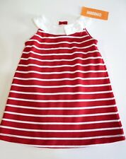Gymboree Dress Diaper Cover Size 3T Red White Striped Bow