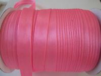 10 Meter SCHRÄGBAND Pink Satin Borte 1,5cm Spitze Elegante BA 032
