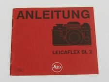 Original Leicaflex SL2 Users Instruction Manual - In German