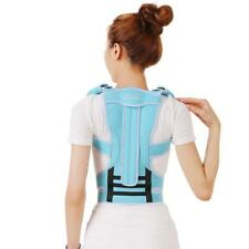 Blue Posture Corrector Back Shoulder Lumbar Waist Support Belt Humpback Correct