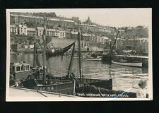 Devon BRIXHAM Inner Harbour Boats RP PPC Used 1957 by Chapman