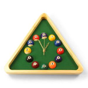 Jonny 8 Ball Novelty 13 Inch TRIANGLE Pool Snooker Ball Analogue Wall Clock