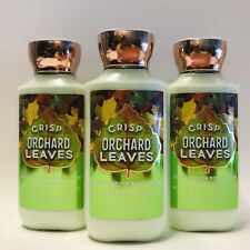 3 Bath & Body Works Crisp Orchard Leaves Shea Super Smooth body Lotion 8 fl.oz