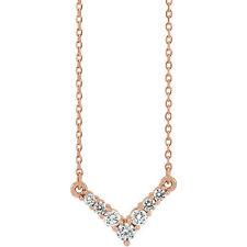 Diamante 40,6 -45 , 7cmV Collar en 14k oro rosa ( 1/3ct. TW