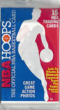 1990 NBA HOOPS Official NBA Basketball Cards UNOPENED 15 Card Pack
