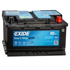 Exide EK800 AGM Autobatterie 12V 80Ah 800A/EN Start-Stop