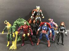 "MARVEL UNIVERSE CLASSIC AVENGERS LOT OF 8 3.75"" FIGURES LEGENDS BLACK WIDOW RARE"