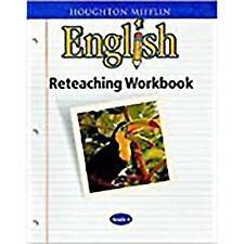 Houghton Mifflin English: Reteaching Workbook Grade 3 by HOUGHTON MIFFLIN