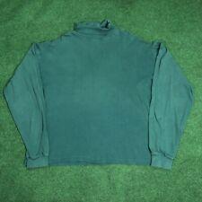 Vintage Eddie Bauer Turtleneck Long Sleeve Blank Shirt Made In USA Single Stitch