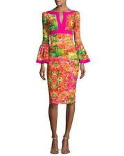 NWT La Petite Robe di Chiara Boni Jake Bell-Sleeve Floral Sheath Dress 4 $750