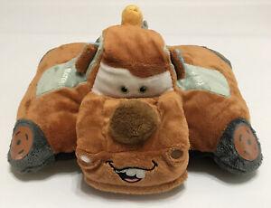 """Disney Cars Pillow Pets Tow Mater 12"""" Large Folding Stuffed Plush Toy Pillow"""