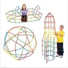 Plastic Kids 4D Straw Building Blocks Joint Construction Development Toy Set N7