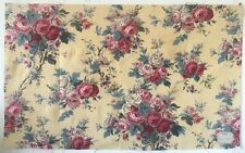 Early 20th C. French Printed Floral Cotton Fabric (2832)