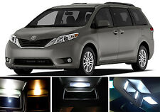 Xenon White Vanity / Sun visor  LED light Bulbs for Toyota Sienna (4 pieces)