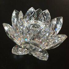 Swarovski Water Lily Lotus Flower Candle Holder - Medium (7600Nr 123) Flawed