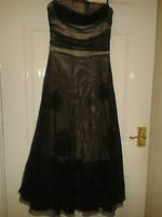 Womens Long Knee Length Dress - Betsy & Adam By Linda Bernell - Black - Size 6