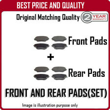 FRONT AND REAR PADS FOR VOLKSWAGEN GOLF PLUS 1.4 TSI 6/2006-12/2009