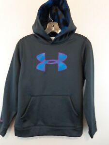 UNDER ARMOUR STORM Girl Pullover Hoodie Sz Large Grey