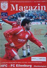 Programm 2005/06 HFC Hallescher FC - FC Eilenburg