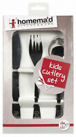 Homemaid 3 Pcs Cutlery Set Knife Fork Spoon S/Steel Kids Baby Toddler