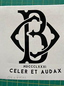 RGJ RIFLES regiment subtlety monogramed decal 5-7yr gloss vinyl