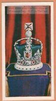 Imperial State Crown British Crown Jewels Royalty King Vintage Trade Ad Card