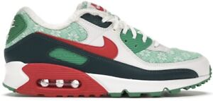 Mens Nike Air Max 90 Nordic Christmas Sweater Size 9 Red DC1607-100