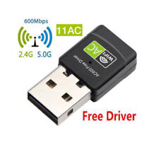 Sale 600 Mbps Dual Band 2.4/5Ghz Wireless USB WiFi Network Card Adapter 802.11AC