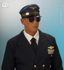 Navy BLUEA COMPAGNIA AEREA PILOTI Cappello Pilota capitano Militare Stile Fancy Dress