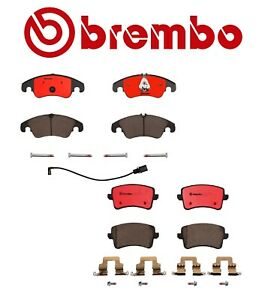Front and Rear Disc Brake Pad Set Brembo For Audi A4 A5 Quattro Q5 Allroad
