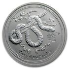 Perth Mint Australia 2013 $2 Lunar Series II Snake 2 oz .999 Silver Coin