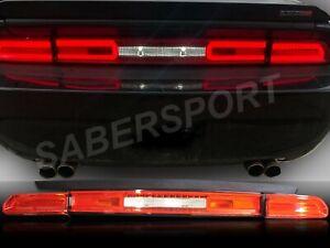 Set of 3pcs Eagle Eyes Red Lens LED Taillights for 2008-2014 Dodge Challenger