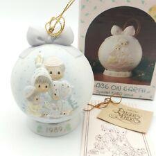 Precious Moments Porcelain Christmas Ball Dated Ornament 1989 #523062