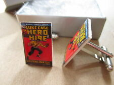 Luke Cage - Hero for Hire Comic Book Cover Cufflinks -Marvel Comics Cuff links