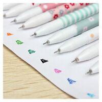 10X Cute Little Korean Stationery Watercolor Pen Gel Pens Set Color Kandeli S7J2