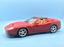 1/18 HOTWHEELS FERRARI 575 SUPERAMERICA RED DIECAST MODEL CAR  **NO BOX**