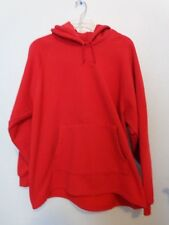 ADULT RED LEE COTTON BLEND HOODED HOODIE JACKET COAT SIZE LARGE L