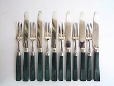 Cutlery Set of Twelve Georgian Knives & Forks Sterling Silver Moses Brent 1815