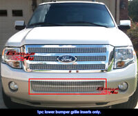 Fits 2007-2014 Ford Expedition Bumper Vertical Billet Grille Grill Insert