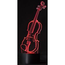 Violin Led Color Changing 3D Lamp - Wonderful Music Themed Gift - Fast Shipping!
