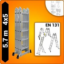 5.7M Multi Purpose Ladder Aluminium Folding Extension Adjustable Step New Fold