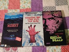 Misery + Sometimes They Come Back For More + The Dark Half (VHS x 3) S. KING LOT