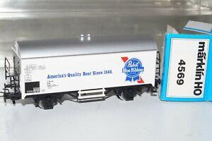 B 109: Märklin 4569 BierwagenPapst Blue Ribbon Unbespielt +OVP