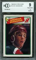 1988-89 o-pee-chee #122 BRENDAN SHANAHAN new jersey devils rookie BGS BCCG 9