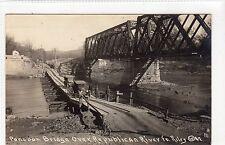 PONTOON BRIDGE OVER REPUBLICAN RIVER, FORT RILEY: Kansas USA postcard (C11840)